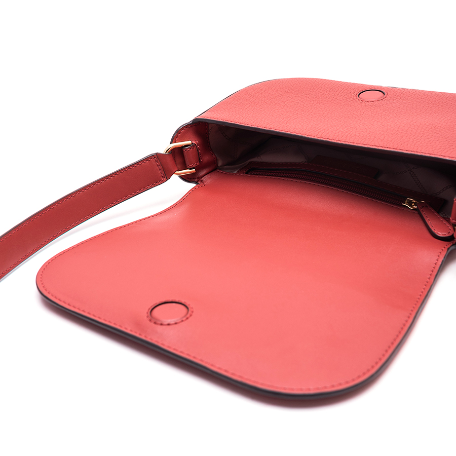 SAMIRA Small Flap Messenger - červená