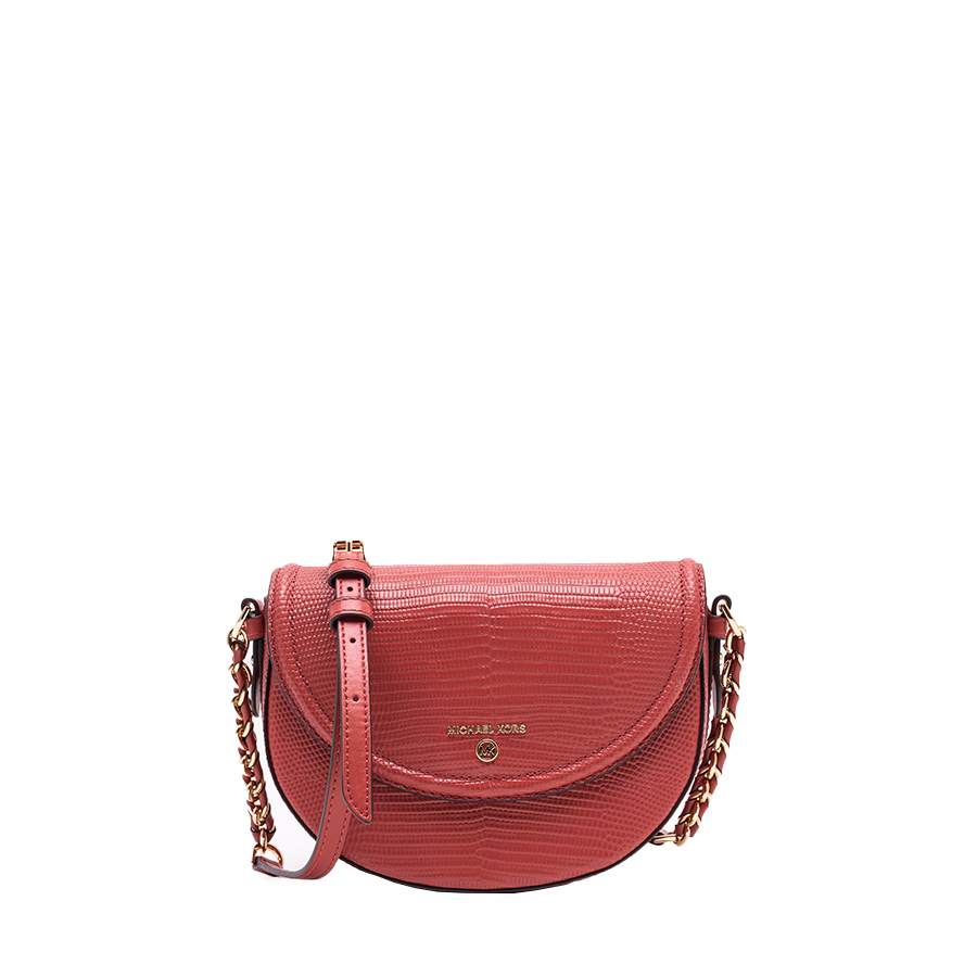 JET SET CHARM Medium Half Dome Chain Crossbody
