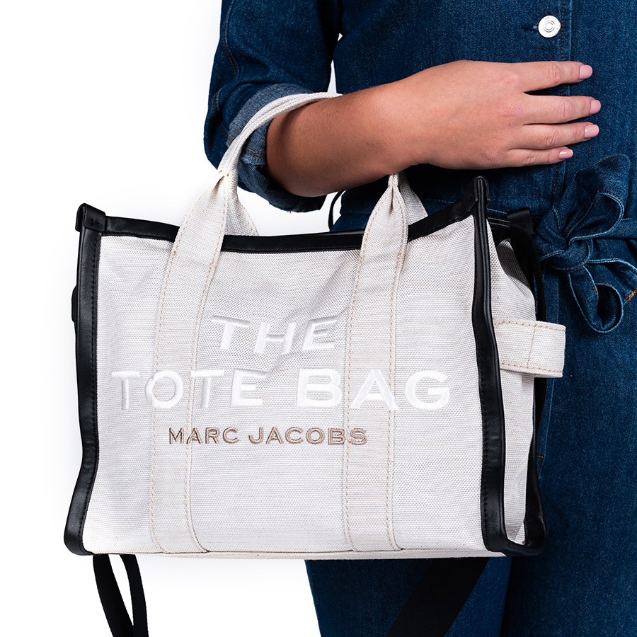 Kabelka - MARC JACOBS The Summer Small Traveler Tote bag sivá